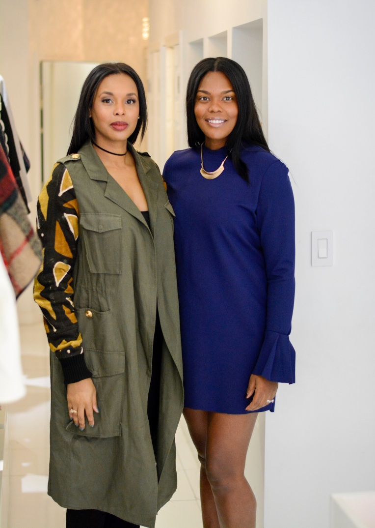 (L-R) J. Enovy - Founder of Tall District, Robin - Founder of Model Atelier